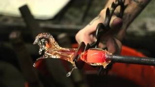 Glass Blowing Pulled Pony Aaron Tate