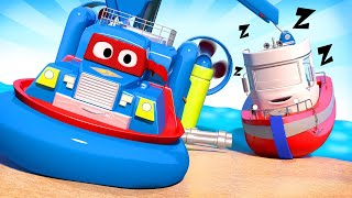 Bobby the Boat is Lost in the See Carl the Super Truck - Car City ! Cars and Trucks Cartoon for kids