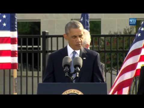 Obama Speaks At 9/11 Pentagon Memorial- Full Speech