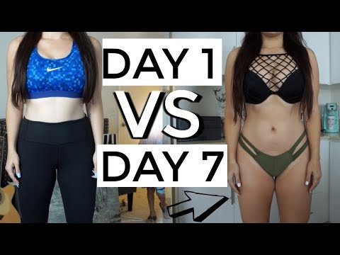 1 Week FAT LOSS Results / Full Day Of Eating + KILLER WORKOUT FOR FAT LOSS