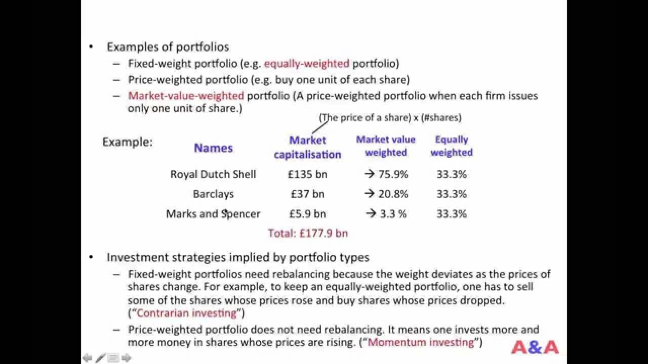 Portfolios, Indices, Funds 01 (Portfolio Types)