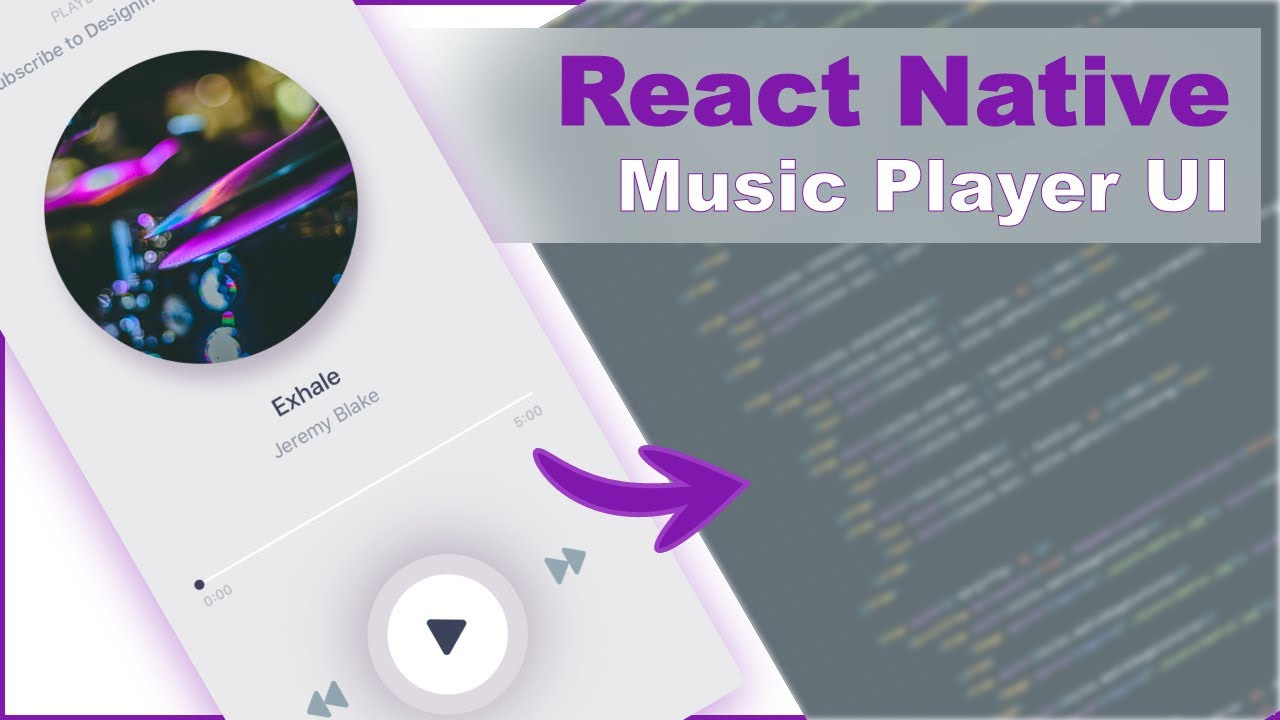 Music Player screen UI in React Native - Design To Code #3