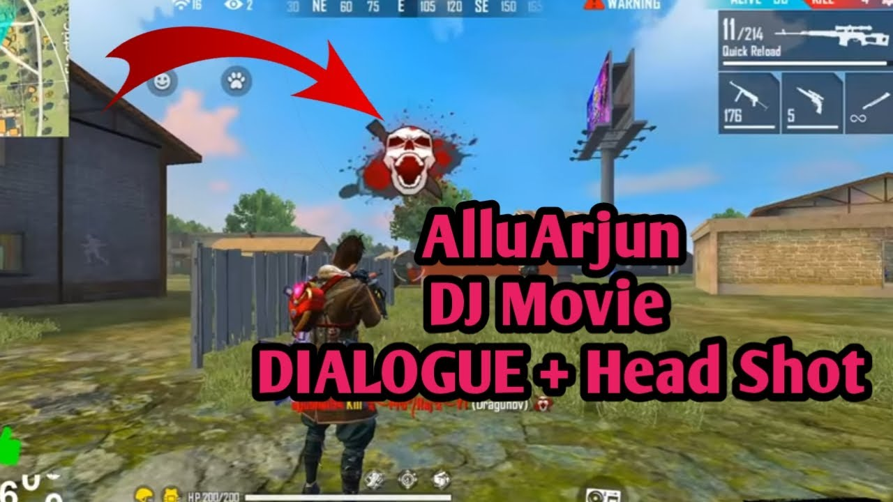 Allu Arjun DJ movie Dialogue #3... Nice intresting Dialogue added with Freefire...