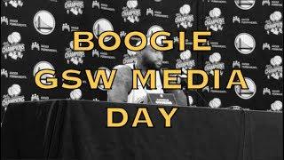 from Golden State Warriors Media Day at Rakuten Performance Center....