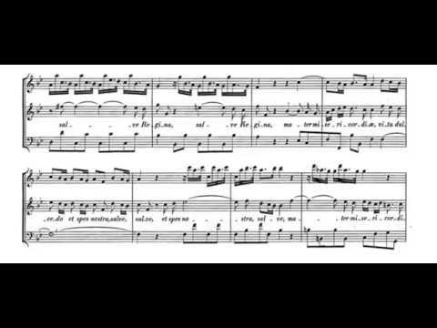 Salve Regina (G. F. Handel) Score Animation