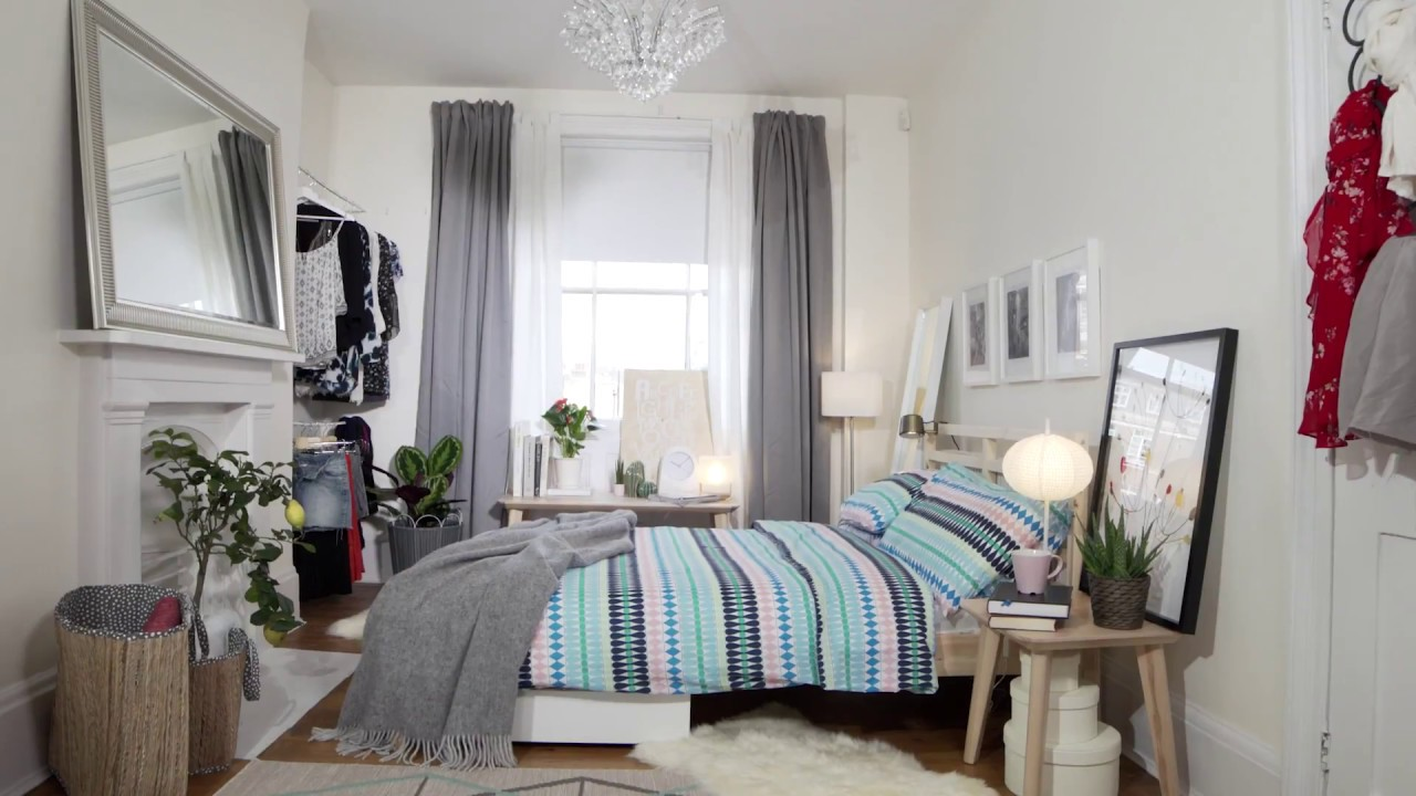 IKEA Bedroom Tips Storage Space for Small Rooms - YouTube on Bed Ideas For Small Rooms  id=95736