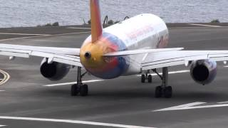Madeira Airport LPMA Jet2 maximum power takeoff