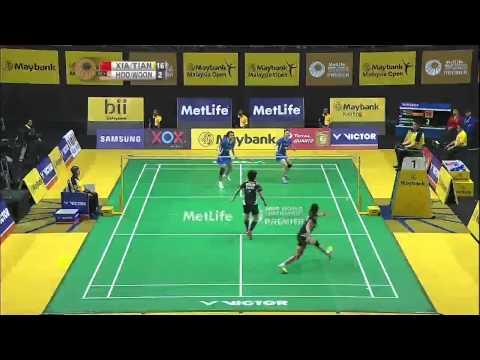 Huan Xia/Tian Qing vs Vivian Kah Mun Hoo/Khe Wei Woon   WD QF Match 4 - Maybank Malaysia Open 2015