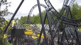 Alton Towers 2013: The Smiler: The Giggler & Hypnotiser Testing