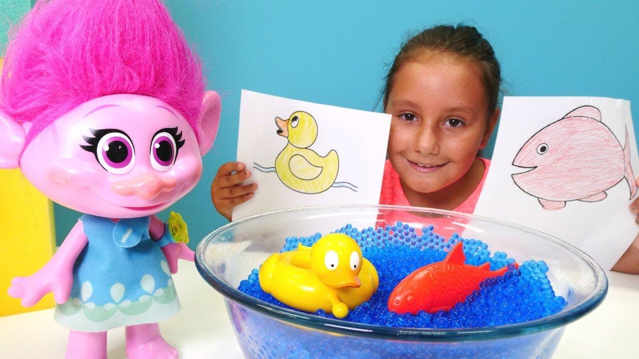 Troller Poppy Renkleri Ogreniyor Okul Oncesi Boyama Etkinlikleri