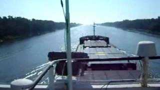 General Cargo Ship Navigating to Poland via the Great Baelt Bridge, 2009.wmv