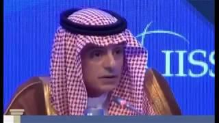 تصريح عادل الجبير حول قطر و الاخوان المسلمين في منتدى حوار المنامة