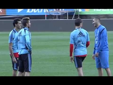 Benzema Spain And France Training