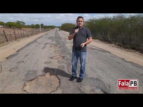 VÍDEO: Radialista denuncia péssimo estado de conservação de rodovia do sertão