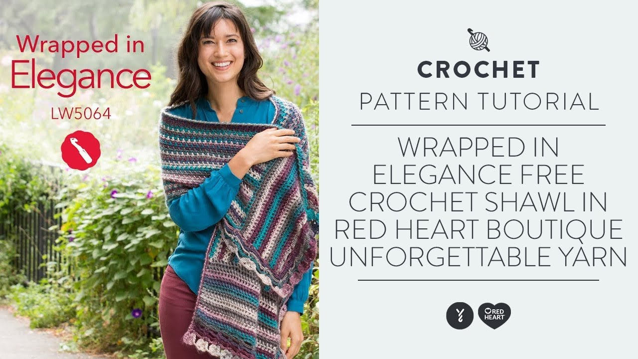 Wrapped In Elegance Free Crochet Shawl In Red Heart Boutique