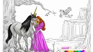 дошкольное обучение- Kраска Единорог -Pазвлекательныe и образовательные игры для детей
