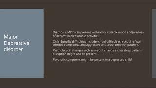 Psychiatric review: major depressive disorder (child/adolescent)