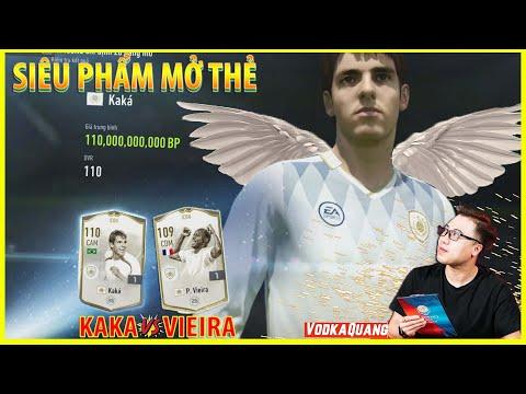 Vodka Thiên Thần   Pha mở thẻ FIFA Đỉnh nhất với KAKA ICON và VIEIRA ICON Siêu may mắn siêu Red Dog