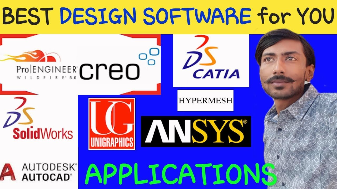 BEST DESIGN SOFTWARE FOR YOU & APPLICATIONS ~ AUTOCAD, CATIA, CREO, ANSYS ,  UG, SOLIDWORKS etc