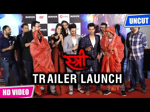 Uncut Stree Official Trailer Launch Full Video | Shraddha Kapoor and Rajkumar Rao