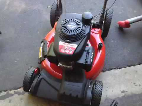 push mower troy bilt tb youtube