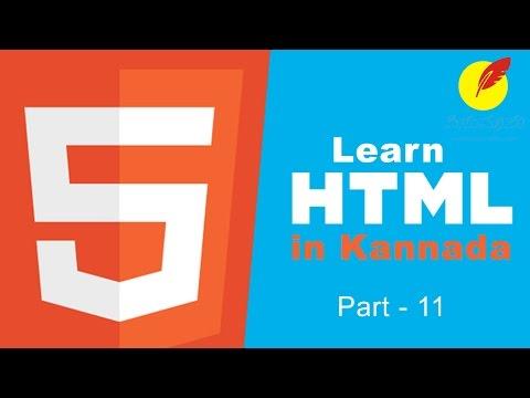 Learn HTML in Kannada : Part-11