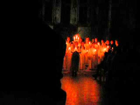 Swedish choir - St. Lucia songs (Bruxelles) 2012