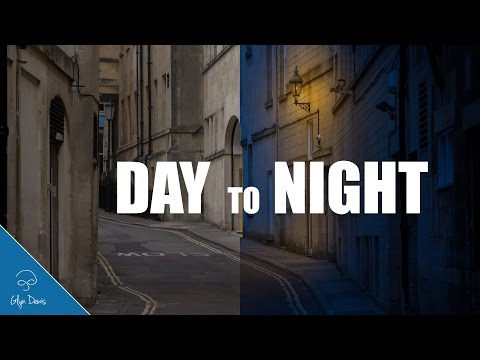 TURNING DAY INTO NIGHT: Photoshop Tutorial #63