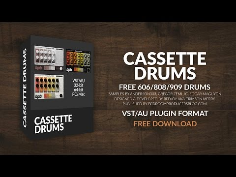 BPB Cassette Drums (Free Drum Machine VST/AU Plugin Bundle
