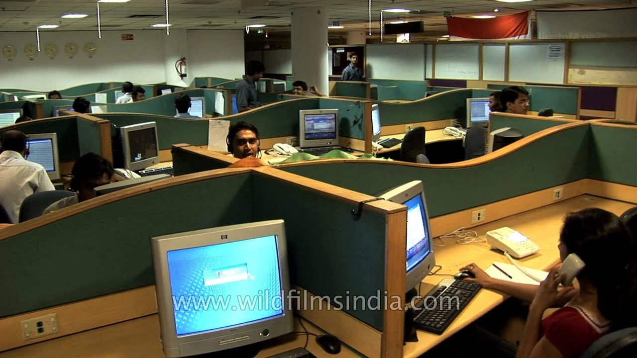 Indian BPO or call center workers in office  YouTube