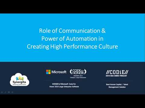 "Webinar - ""Role of Communication & Power of Automation in Creating High Performance Culture"""