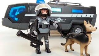 Playmobil SEK Polizist mit Hund 5369 auspacken seratus1 Polizei unboxing