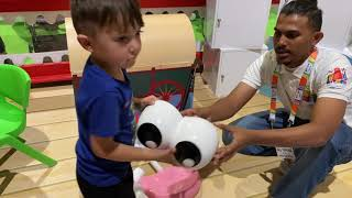 Zack Playing with Giant Mr Potato Head from Toy Story