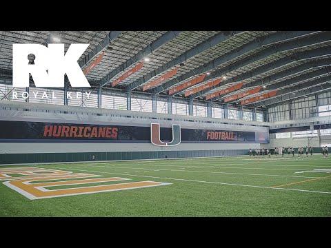 We Toured The MIAMI HURRICANES' AMAZING FOOTBALL Facility & Equipment Room, Pt. 1 | Royal Key