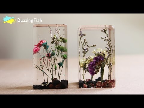 🌿 DIY. Dried Flowers in Resin 🌼