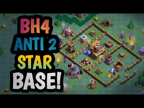 ANTI 2 STAR BASE BUILDER HALL 4 | BEST ANTI 2 STAR BASE WITH PROOF BUILDER HALL LEVEL 4 | AYRUS