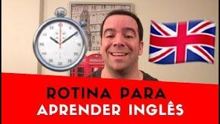 ROTINA de Aprendizado de INGLÊS - Turbine seu Inglês (Gabriel Poliglota)