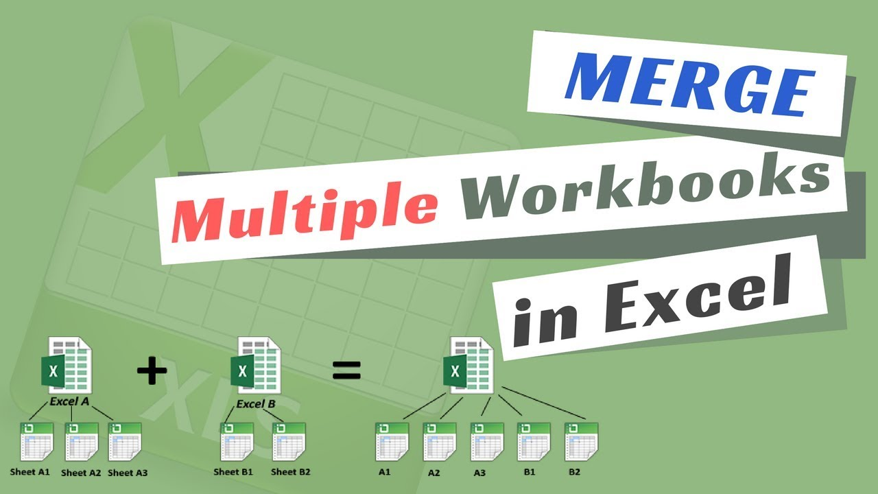 How To Merge Multiple Excel Files Into One Youtube