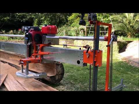 "The MASSIVE 12"" cut swing-blade sawmill!"