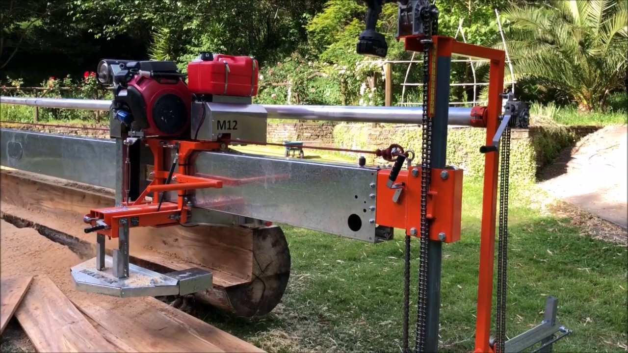 "The MASSIVE 12"" cut swing-blade sawmill"