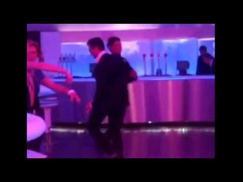 Kieron Richardson and Emmett Scanlan dancing at the NTA afterparty