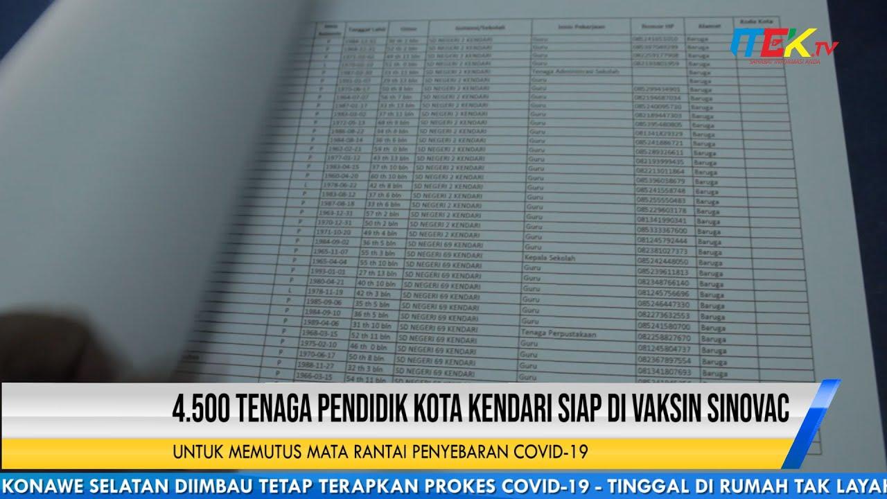 4 500 Tenaga Pendidik Kota Kendari Siap di Vaksin Sinovac