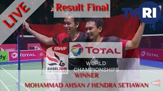 Result FINAL Badminton Total Bwf Championships 2019, Mohammad Ahsan / Hendra Setiawan Juara