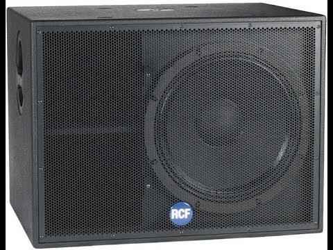 RCF Bass Reflex Subwoofer Professional Audio PA Cabinet Speaker Plan