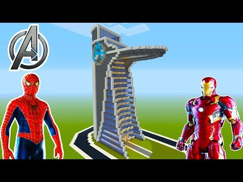 "Minecraft Tutorial: How To Make ""Stark Tower"" from ""Spiderman Homecoming"" ""Avengers Tower"""