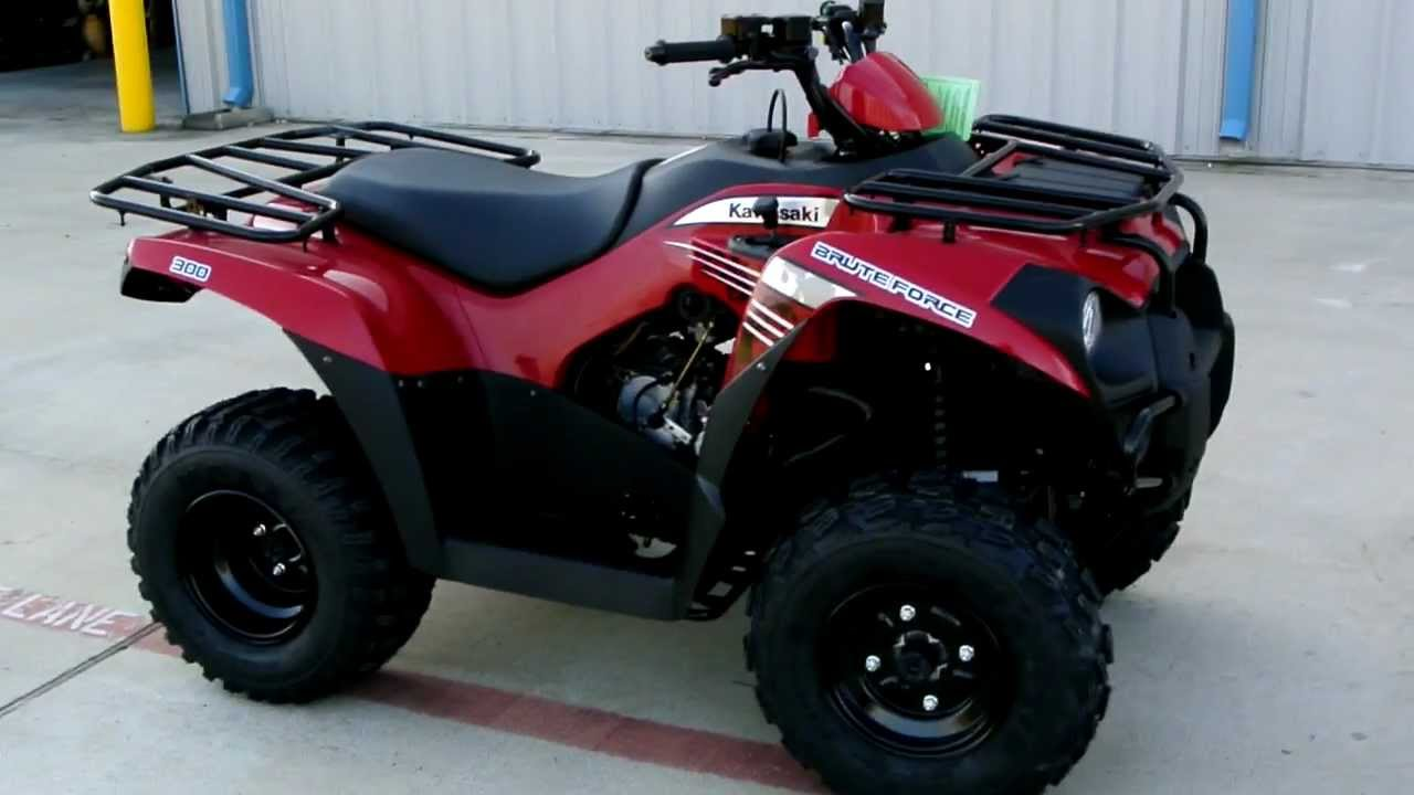 overview and review 2012 kawasaki brute force 300 in aztec red youtube [ 1280 x 720 Pixel ]