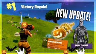 THE *NEW* FORTNITE UPDATE! - NEW WEAPON, NEW SKINS, LEADERBOARDS!