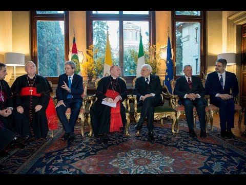 Mattarella all\'Ambasciata d\'Italia presso la Santa Sede