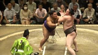20120910 大相撲秋場所2日目 白鵬vs松鳳山.
