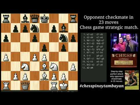 Opponent Checkmate In 23 Moves: Chess Game Perfect Attack